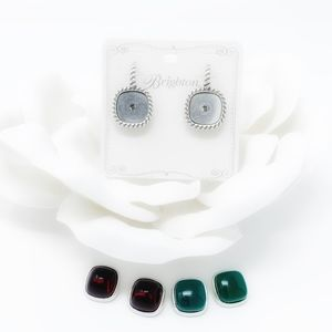 Brighton COLOR CLIQUE Earrings Red Green Gems